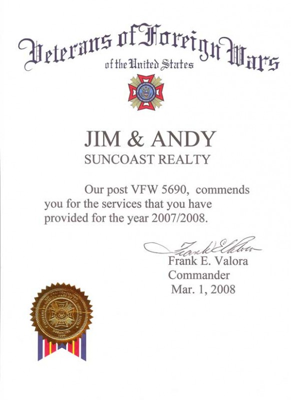 Jim and Andy are proud members of Post 5690.