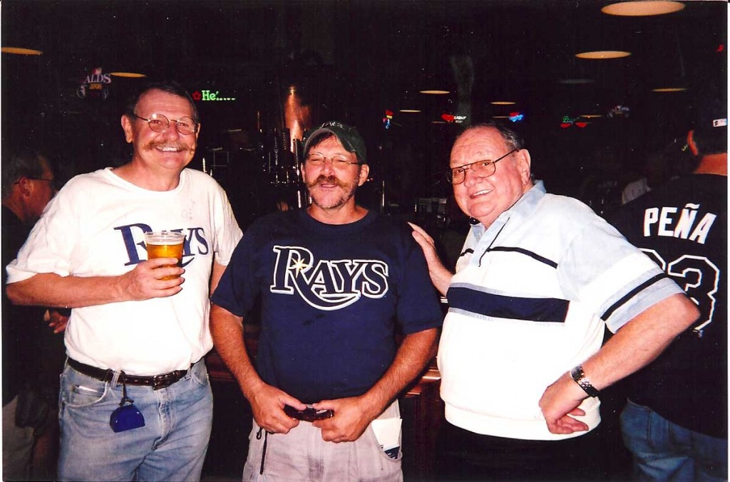 tropjlb2.jpg  Jim, Lee and Bob gather at the Budweiser Brew Pub at the Trop
