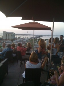 View from the rooftop lounge at the post-Charlie Wyvern Hotel in Punta Gorda