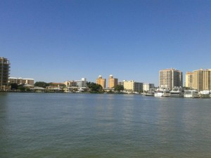 A view across the Bay at Downtown Sarasota.